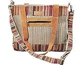 Mato Boho Crossbody Shoulder Tote Bag Bohemian Tribal Aztec Baja Pattern Handmade Hemp Fibers For Women Shopping Beach Travel Durable Spacious Zipper Bag Multi Pockets
