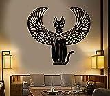 Vinyl Wandtattoo Alte ägyptische Katze Göttin ägyptische Kunst Aufkleber kreative Wohnkultur Wohnzimmer Schlafzimmer Wandtattoo A6 63x57cm