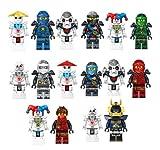 LEGO 2017 16 PCS Ninjago Skeleton Ninja Mini Figures Building Blocks Toys Fits