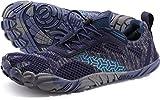 WHITIN Zapatilla Minimalista de Barefoot Trail Running para Hombre Five Fingers Fivefingers Zapato Descalzo Correr Deportivas Fitness Gimnasio Calzado Asfalto Azul 41 EU