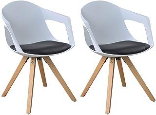Juego de 2 sillas - estilo nórdico con reposabrazos