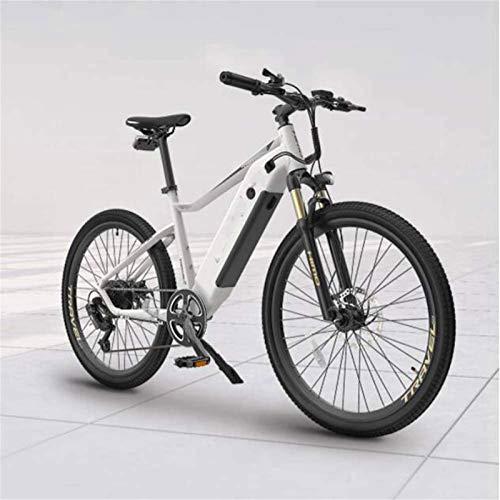 WJSWD Bicicleta de nieve eléctrica, bicicletas eléctricas, faros delanteros LED, pantalla LCD para adultos, ciclismo al aire libre, 3 modos de trabajo, batería de litio para adultos