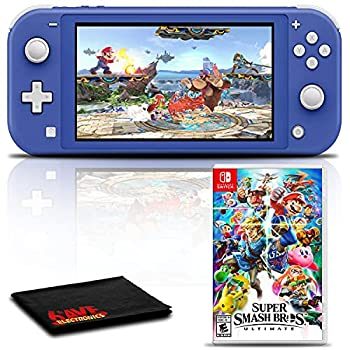 Nintendo Switch Lite  Blue  Gaming Console Bundle with Super Smash Bros Ultimate