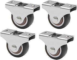 4 Meubilair Caster 25/32mm Rubber Swivel Casters Wiel, Kleine Mini Vaste Castor Wielen, Voor Meubilair Tafelwagen