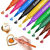 Food Coloring Markers, Double Sided Food Coloring Pens with Fine & Thick Tip, Edible Gourmet Writer Food Grade Decorator Pens for Decorating Cookies, Cakes, Fondant, Desserts, Easter Eggs Writing