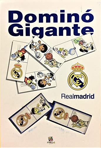 Real Madrid Dominoset Gigant Größe der Karte: 7,7 x 3,5 cm.
