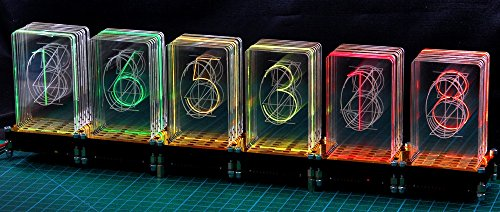 LED-Nixie -M, 6-stelliger Bausatz inkl. Controller LED-Uhr Steuerung Nixie Design