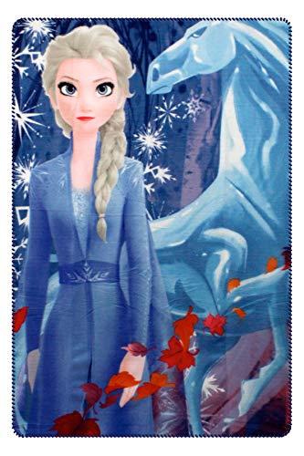 Characters Cartoons Frozen Die Eiskönigin 2 Fleece Decke Kuscheldecke 100 x 140 cm (ELSA)
