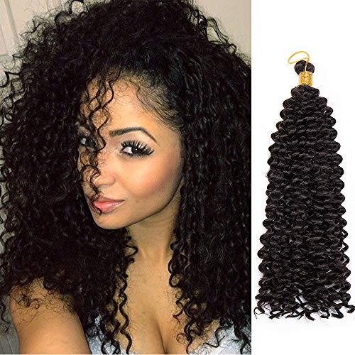 14 Pouces Une Pièce Crochet Braids Mèches Ondulé Braiding Hair Meche Tresses Africaines Water Wave Hair Extension Mèche Pour Crochet Braids, Noir Naturel