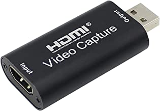 HAYOX Audio Video Capture Cards HDMI to USB 1080p USB2.0 Record via DSLR Camcorder Action Cam for High Definition Acquisition, Live Broadcasting