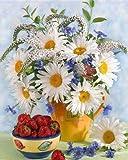 Pintura por números Kits de flores Imágenes de decoración del hogar por números Dibujo de flores sobre lienzo Pintura pintada a mano Arte DIY Regalo A1 40x50cm