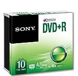 Sony Dvd+r 4.7GB 10DPR47SS - Confezione da 10...