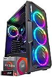 Ordinateur de Bureau Gaming AMD Ryzen 5 3400G, Radeon Vega 11/SSD M.2 512 Go//RAM 16 Go 3200Mhz/Windows 10/Gaming Ready,PC Fixe Ordinateur