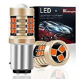 KaiDengZhe 2PCS Rouge 1157 BAY15D P21 / 5W Ampoules LED Double Lentille Feu de Freinage 21SMD 2835 pour Feux de Freinage de Voiture Feux Stop 12V