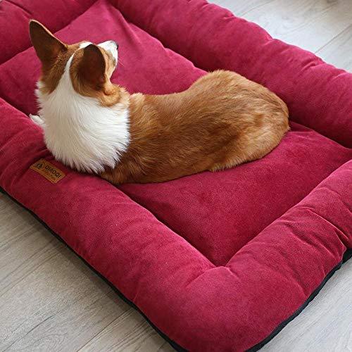 Nobran - Colchón suave para perro, colchón, caja de tiras, nido de perro, paño lavable, parte inferior antideslizante, interior y exterior, perros y gatos grandes y medianos