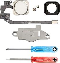 MMOBIEL Repuesto Botón de Inicio Home Compatible con iPhone 5S (Blanco) con Cable Flexible, Incl. 2X Destonilladores