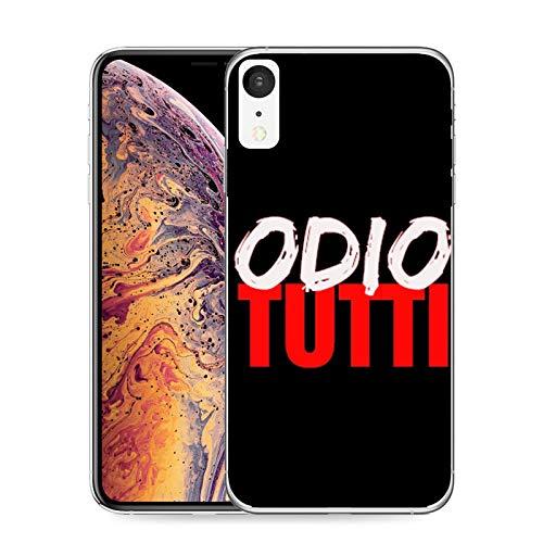 CASEONE Cover in Gomma TPU Odio Tutti per iPhone XR