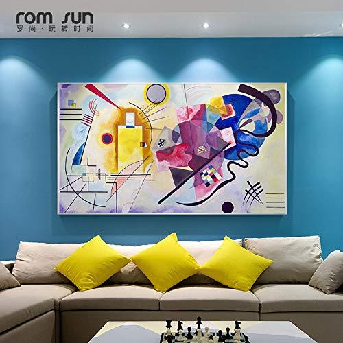 Frameloos Kandinsky Abstract Beroemde Canvas Schilderij Rood Geel Blauw Art Muur Foto Voor Woonkamer Woondecoratie HD Posters En Prints <> 40x70cm