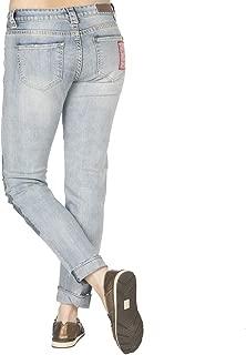 Rock N Roll Cowgirl Womens Boyfriend Skinny Bandana Jeans
