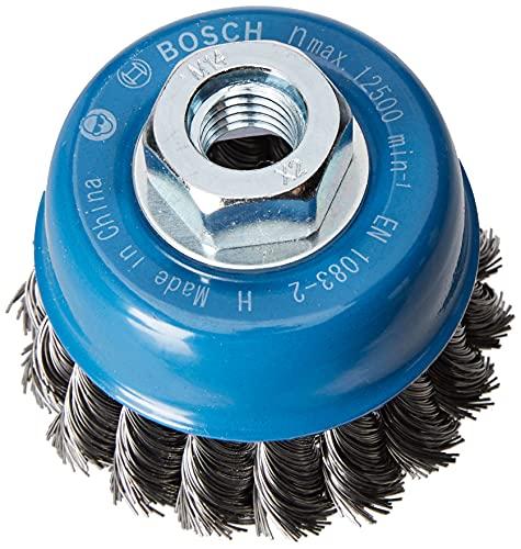 Bosch Professional Topfbürste Stahl gezopfter Draht für Winkelschleifer (Ø 75 mm)