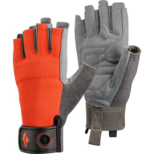 Black Diamond CRAG HALF-FINGER GLOVES, Robuster Halbfinger-Handschuh zum Klettern, Sichern, Abseilen, Arbeiten und für Klettersteige, Octane, Gr. Small