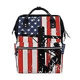Large Capacity Baby Diaper Bag American Flag Lineman Lineworker Durable Multi Function Travel Backpack