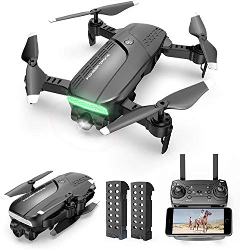 Drones with Camera 720P HD - Foldable WiFi FPV RC Quadcopter w/Gesture Control, Trajectory Flight, 3 Speed Mode, Follow Me Mode, Compatible w/VR Headset, Family