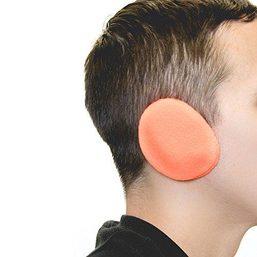 Sprigs Earbags Bandless Ear Warmers/Fleece Earmuffs with Thinsulate  HiViz Orange Medium