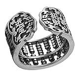 Helen de Lete 925 Sterling Silber Weinlese Abakus Glück Einstellbarer Ring Geschäftseröffnung Geschenk Öffnen Ring
