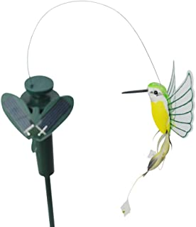 Solar Yard Stake Fluttering Insects, Solar or Battery Powered (Hummingbird)