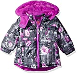 Wippette Baby Girls SKI Jacket, Floral Charcoal, 12M
