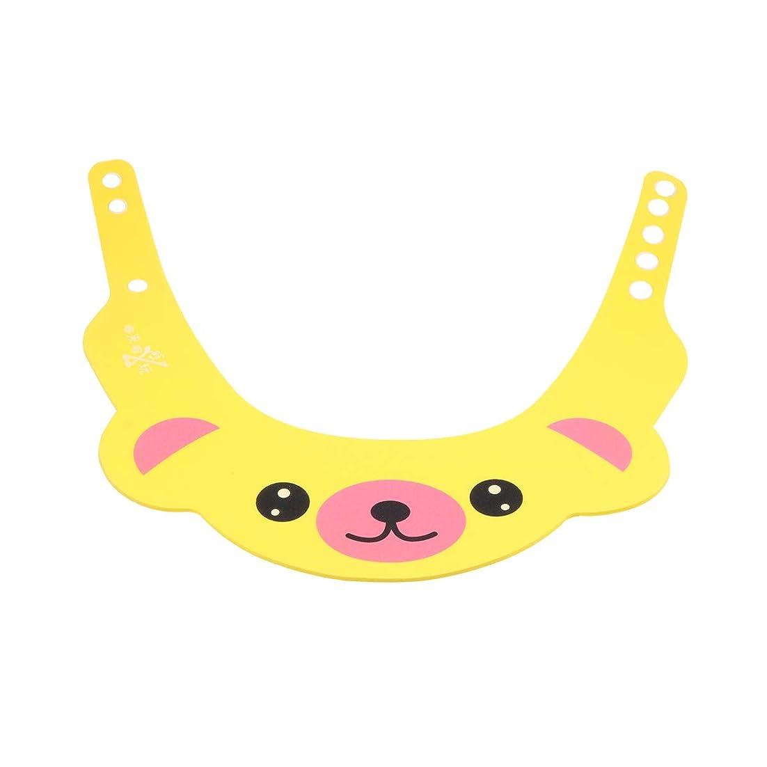 趣味モバイルダッシュHealifty 1ピースベビーシャワーキャップシャンプー入浴保護帽子クマ形状ソフトアジャスタブルバイザーキャップ用幼児子供ベビーキッズ(イエロー)