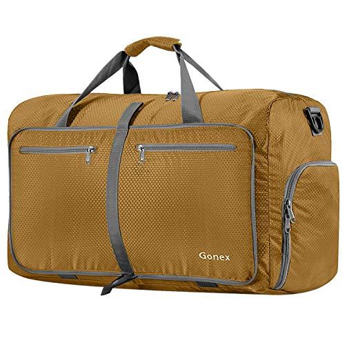 Gonex Leichter Faltbare Reise-Gepäck 40L, Farbe: Blond, Duffel Taschen Uebernachtung Taschen/Sporttasche für Reisen Sport Gym Urlaub