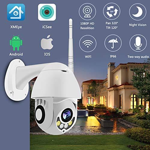 Cámara WiFi Cámara Ptz IP Al Aire Libre Cámara Domo De Velocidad De 1080p De Seguridad CCTV Exterior 2mp IR Vigilancia Doméstica Ip66 Detección De Movimiento A Prueba 1080P 64GB 2A Potencia 3.6mm