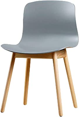 Casual Solid Wood Dining Chair Simple Coffee Lounge Chair Home Dining Chair Stylish Dining Chair Study Study Desk Chair Outdoor Chair (Color : Gray, Size : 47.5x41x80cm)