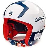 Briko Casque De Ski Vulcano Fis 6.8 USSA Shiny White Blue Red