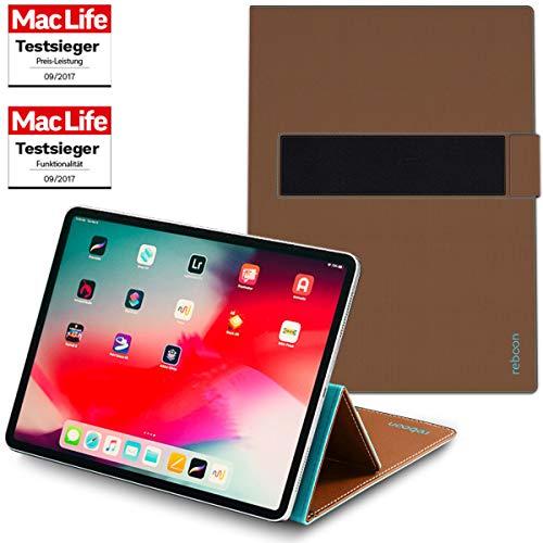 reboon Hülle für Apple iPad Pro 12.9 2018 Tasche Cover Hülle Bumper | in Braun | Testsieger