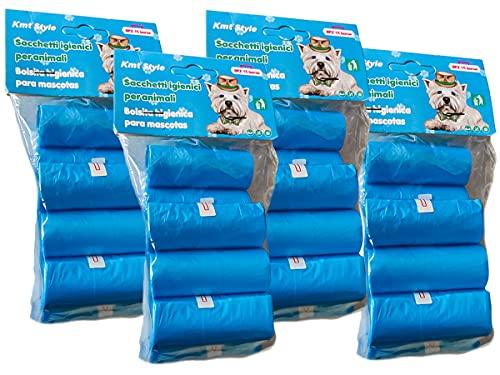 LEDLUX 480 Sacchetti Cane Biodegradabili,Sacchetti Igienici per Cani,Resistente Inodore,Misura 30X23cm,Colori Assortiti