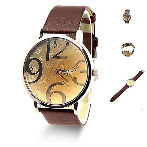 SSITG moda frigorifero in acciaio inox orologio da polso in pelle Bracciale orologio al quarzo Watch