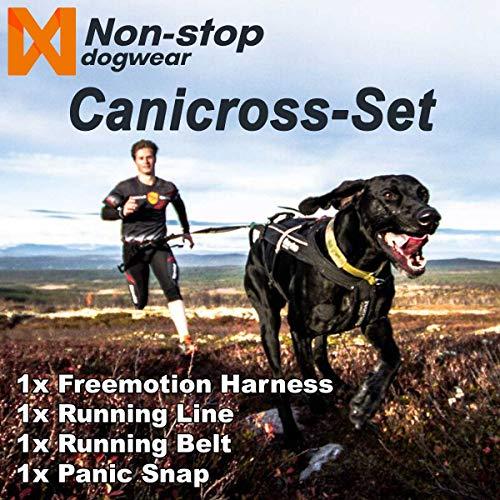 NON-stop dogwear Canicross Komplett-Set | Geschirr, Laufgurt, Leine, Panik Snap, Größe:8 - K 56cm - H 48-52cm