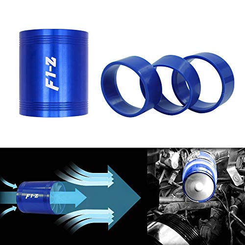 Mookis F1-Z Double Turbo Turbine Charger, Air Intake Fuel Saver Fan (Blue)