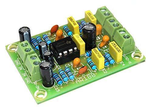 ArliKits AR188 RIAA stereoförförstärkare för skivspelare byggsats riaa-pre-amplifier utjämning grön