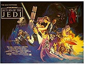 zolto poster Rare Poster Thick Star Wars: Return of The Jedi Vintage 1983 12x18