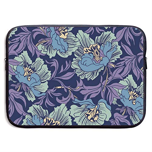 Laptop Sleeve Case Cover Bag, Computer Travel Pocket Pouch Handbag Compatible, Portable Tablet Slipcases Carry Bag for MacBook/HP/Acer/Asus/Dell Abstract Flower 13 15 inch