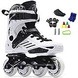 Slalom Recommander Adulte Roller en Ligne Chaussures for Jeune Homme Fille Daily Brush Street Patinage Roller Skates (Color : White, Size : EU 36/US 4.5/UK 3.5/JP 23cm)
