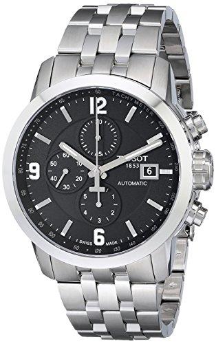 Relógio automático masculino Tissot T0554271105700 PRC 200 de aço inoxidável