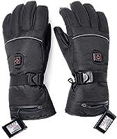 George Verwarmbare handschoenen, voor de winter, met 3 standen, temperatuurregelaar, met oplaadbare lithium-ion verwarmd...