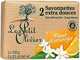 ル?プティ?オリヴィエ余分な穏やかなオレンジの花石鹸2×100グラム x2 - Le Petit Olivier Extra Mild Orange Blossom Soap 2 x 100g (Pack of 2) [並行輸入品]