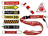 Set 10 Llavero de Bordado Surtido - Remove Before Flight & Co.