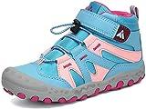 Mishansha Stivali da Escursionismo per Ragazzi e Ragazze Bambino Calzature da Escursionismo Antiscivolo Scarpe da Trekking da Montagna Outdoor, Cielo Blu, 35 EU